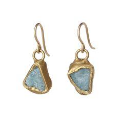Aquamarine Ebb and Flow Earrings | aquamarine stone jewelry | UncommonGoods