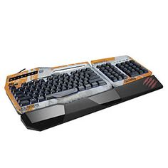 Titanfall-branded keyboard features 36 user-definable commands, anti-ghosting capabilities for up to 7 simultaneous keystrokes, and fully-customizable RGB backlighting with 16 million color variants both through and around the keys.
