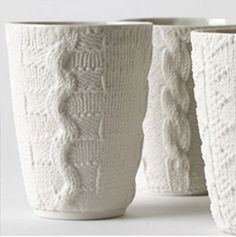 Annette Bugansky  'Knit Cups': Textile ceramics