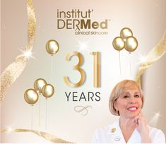 Institut' DERMed Spa Celebrates 31 years with a Buy 3 and Get 1 Free Service - Anniversary Mini Series Sale! PLUS receive 15% OFF all Institut' DERMed Clinical Skincare Products and Cosmetics with your service purchase or shop our Featured Products Sale. Spa Deals, Clinic, Skincare, Anniversary, Cosmetics, Celebrities, Shop, Free, Products