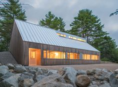 Moore Studiois aminimalist homedesigned byOmar Gandhi in Hubbards, Nova Scotia.