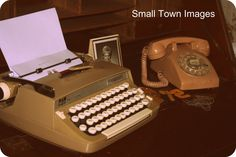 Manual typewriters and rotary phones