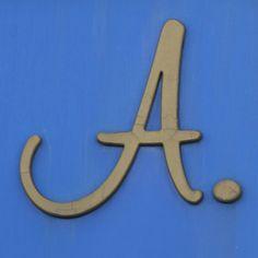 A, on blue