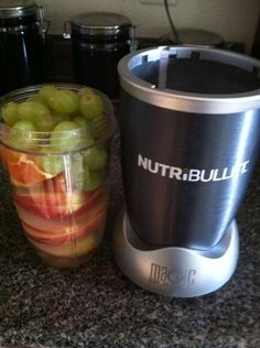 Today's #NutriBlast Contains Apples, Oranges & Grapes! Simplicity With #NutriBullet! #BrainFood