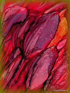 https://flic.kr/p/Sc3QSk | ''ABSTRACT TULIPS'' ♥ ♥ Painting | ''ABSTRACT TULIPS'' ♥ ♥ Painting Alcohol Ink & Yupo Paper With the weather the way it has been for a week and another week of this predicted, I am thinking of Tulips & Daffodils! It has been in the 40's, 50's, and 60's, with Sun and a little rain...but no freezing Snow...In FEBRUARY! IN MICHIGAN!!!! AMAZING!!!