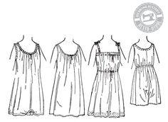 Circa 1917 Combination Underwear & Chemise Pattern Print Patterns, Sewing Patterns, Clothes Patterns, Underwear, Original Vintage, Foundation, Patterned Sheets, Edwardian Fashion, 1900s Fashion