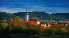 Pressath, in Germany. This is where we currently live. We are about a street or two behind the tower.