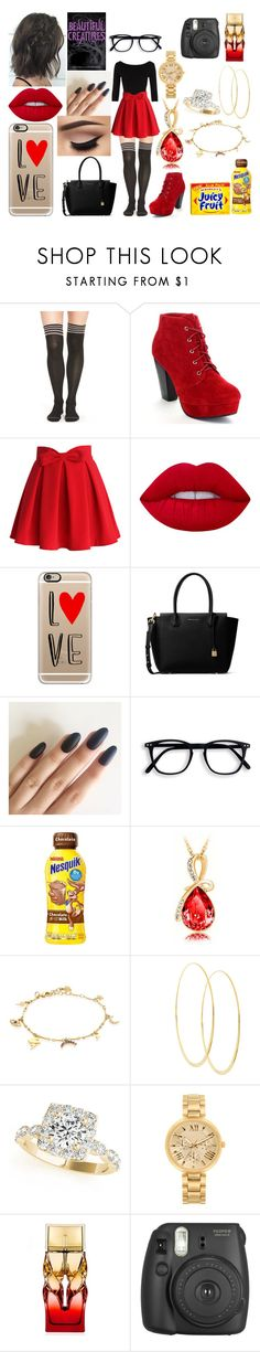 """Untitled #213"" by marieborrero on Polyvore featuring Yummie by Heather Thomson, River Island, Chicwish, Hannah Martin, Lime Crime, Casetify, MICHAEL Michael Kors, Wrigley's, IaM by Ileana Makri and Lana"