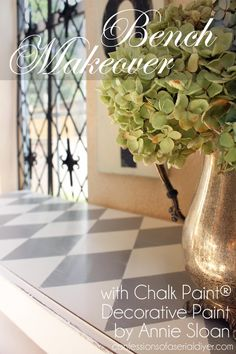 Bench Makeover - I am excited to share a fun makeover today! I was provided Chalk Paint® decorative paint by Annie Sloan to have some fun with. I love chalk pai…