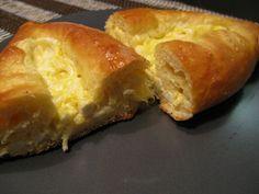 Traditional Khachapuri (vatrushka with cheese) – Georgian cheese stuffed dough pastrie...