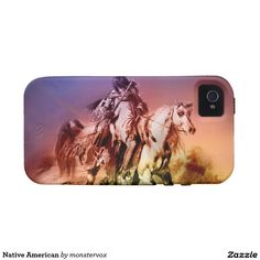 Native American Vibe iPhone 4 Cover #NativeAmerican #Indian #Horse #Historical #Art #Mobile #Phone #Cover #Case #iPhone