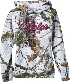Make sure your huntin' buddy is warm and concealed with our Girls' Opening Day Hoodie. 60/40 cotton/polyester knitted-fleece provides both insulation and soft comfort. Ribbed cuffs and hem seal out cold, while also offering extra durability at these points of high wear. A
