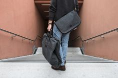 Oslo Messenger and London Suitcarrier in athracite