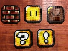 Super Mario World Perler Designs 16x16 Perler Design using 190 - 244 total beads depending on the pattern Can be made with both sides bonded (flat pixel look) or only one side bonded (circle bead look).