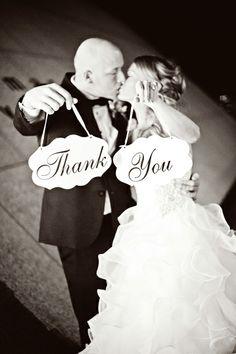 Cute idea for Thank You cards!  Photo by Anna.  #minneapolisweddingphotographers #weddingphotographersmn