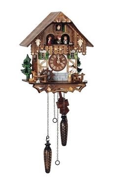Cuckoo Kingdom, Inc - Quartz Cuckoo Clock, Wood Chopper, Dancers, Model