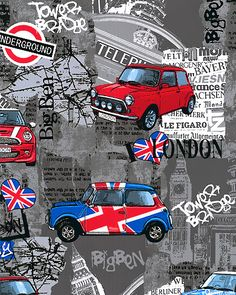 What Anglophile wouldn't <3 a custom quilt from this London loving fabric? #whimziequiltz