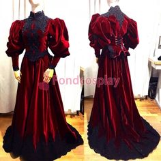 velvet ball Outfit Medieval gown gothic Tailor-made – Style is art Renaissance Clothing, Steampunk Clothing, Steampunk Fashion, Gothic Fashion, Gypsy Clothing, Emo Fashion, 1800s Dresses, Gypsy Dresses, Linen Dresses