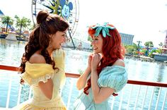 Belle and Ariel, although I'm confused as to why they would be in California Adventure.