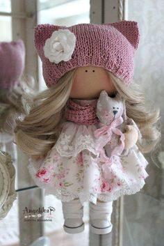 29 Super Ideas For Crochet Doll Russian Handmade Crochet Doll Clothes, Sewing Dolls, Crochet Toys, Pretty Dolls, Cute Dolls, Beautiful Dolls, Crochet Baby Blanket Tutorial, Pink Doll, Waldorf Dolls