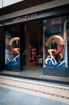 Moncler Window Display | Deauville Windows by Millington Associates | #VM #visualmerchandising #nautical