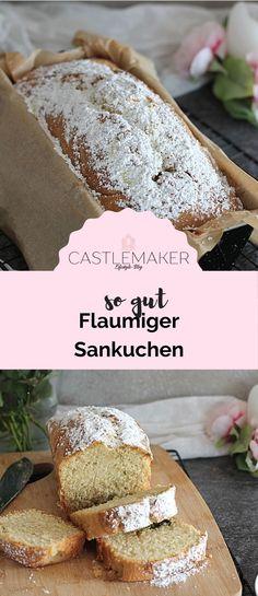 Super flaumiger Sandkuchen aus der Kastenform. Das Rezept für den Klassiker gibt es auf Castlemaker.de