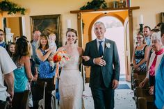 The bride's dad is doing everything to keep it together! So sweet! See more from this rusting wedding at Spring Valley Chapel, Alberta: http://www.annamichalska.com/2015/01/chelsea-nate-rustic-wedding-alberta-spring-valley-chapel/