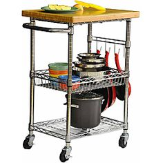 Going To Pick Up This TRINITY EcoStorage™ Kitchen Cart W/Bamboo Cutting  Board Too. Iu0027ve Got A Lot Of Space Along One Wall In My Kitchen.