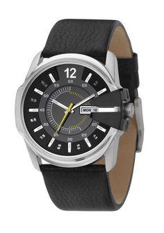 01b4aeb4ac3 Relógio Diesel Watches Men s Black Not-So-Basic Basic Analog Black Dial  Watch