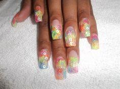 fuzzy neon by joynel - Nail Art Gallery nailartgallery.nailsmag.com by Nails Magazine www.nailsmag.com #nailart