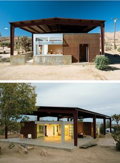 Jim Austin's house- Pioneertown, California, designed by Lloyd Russell
