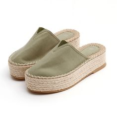 2017 Wedges Shoes Cotton Canvas Slippers Summer Shoes Women Sys-1132