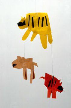 Cut Paper - Simple Mobiles - great kids art site!
