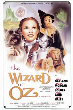 "The Wizard of Oz ~ ""Dorothy Gale is swept away to a magical land in a tornado and embarks on a quest to see the Wizard who can help her return home."""