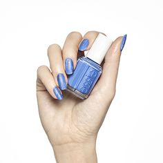 Distressed Denim - Dry-Brush Nail Art Design - Essie Nail Polish Looks