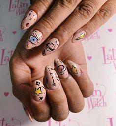 Nail Design Stiletto, Nail Design Glitter, Butterfly Nail, Nail Art, Silver Nails, Manicure E Pedicure, Fire Nails, Minimalist Nails, Yellow Nails