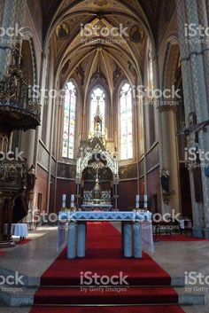 Interiorl of st. Ludmilla church in Prague foto stock royalty-free