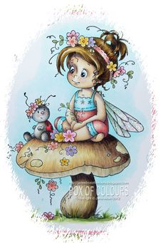Box of Colours: Wee Stamps Whimsy Stamps, Digi Stamps, Tole Painting, Painting & Drawing, Copics, Prismacolor, Fairy Art, Cute Illustration, Illustrations