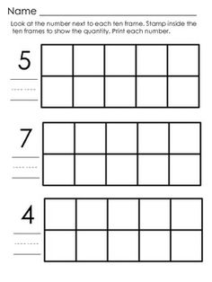 Freebie - Counting Practice : Stamping Ten Frames to 20. Students are presented with blank ten frames and a number from one to twenty. Students use daubers to fill in the ten frames according to the number on the page.