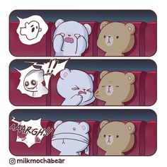 Anime Couples Are you Milk or Mocha when you're watching horror movie? Cute Couple Cartoon, Cute Cartoon Pictures, Cute Love Pictures, Cute Bear Drawings, Kawaii Drawings, Cute Kawaii Animals, Cute Love Gif, Cute Love Cartoons, Bear Wallpaper