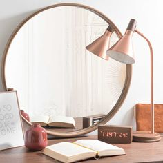 Miroir rond en bois D 60 cm ANDERSEN