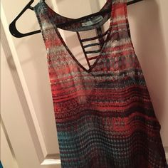 Tank w/ design on back Tank with embellishment on back Maurices Tops Tank Tops