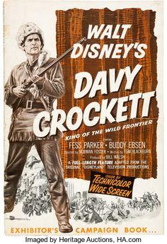 Memorabilia:Disney, Davy Crockett Movie Ad Campaign/Press Kit Books Group of 2 (WaltDisney, (Total: 2 Items) 1960s Movies, Old Movies, Vintage Movies, Walt Disney Movies, Classic Disney Movies, Buddy Ebsen, Friday Movie, Davy Crockett, Live Action Movie