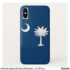 Patriotic Iphone X Case with South Carolina Flag