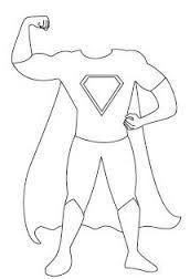Image result for Superhero Body Template Printable