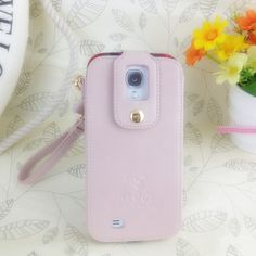 Klogi Case Cover Detachable Hand Strap for Samsung Galaxy S4 - Light Pink