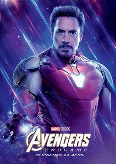 Avengers: Endgame 2019 Character Iron Man International Marvel Comic Movie Avengers 4 – Poster   Canvas Wall Art Print
