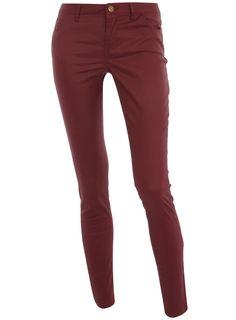 Oxblood coated skinny jeans   #DorothyPerkins