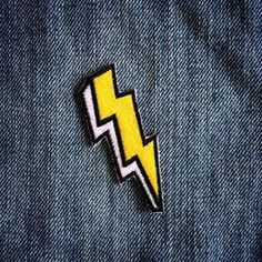 The Bolt Patch by LesTatoues on Etsy 2019 clothing clothing labels clothing patches clothing wholesale flower clothing fly shirts shirts for ladies shirts sunshine coast style clothing tee shirts clothing Sommer Garten Hochzeits Kleider Cute Patches, Diy Patches, Pin And Patches, Iron On Patches, Jacket Patches, Jacket Pins, Barrettes, Clothing Patches, Patch Design