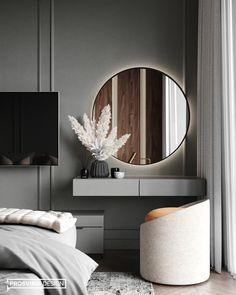 Modern Luxury Bedroom, Master Bedroom Interior, Luxury Bedroom Design, Bedroom Furniture Design, Home Room Design, Luxurious Bedrooms, Home Decor Bedroom, Home Interior Design, Dressing Table Design